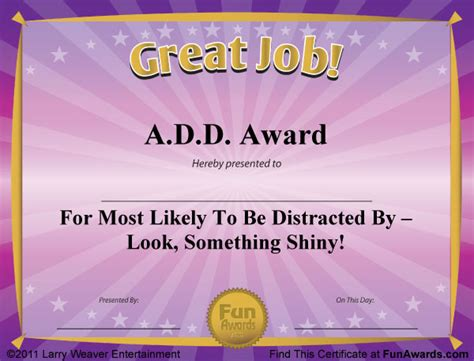 free printable funny employee award certificates