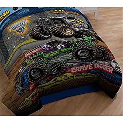 monster jam bedroom amazon com monster jam twin comforter grave digger