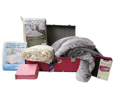 college bedding packages girls classic bed in a trunk dorm room bedding sets
