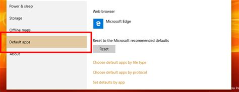 how to set your default apps in windows 10