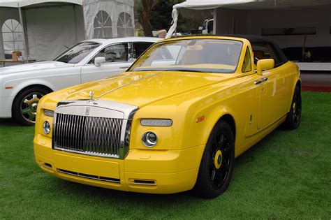 roll royce yellow monterey 2008 yellow rolls royce phantom drophead coupe