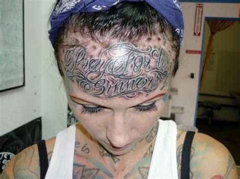 forehead tattoo bad tattoos 13 more worst exles of stupid team jimmy joe