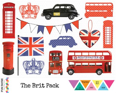 libro icons of england british clip art iconic london bus taxi union jack phone