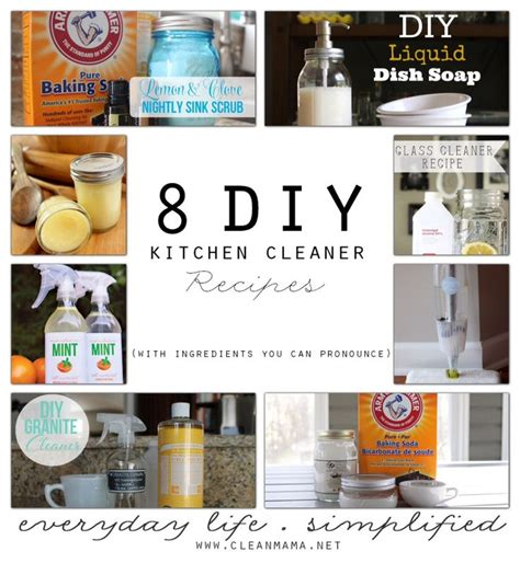 diy pronunciation 8 diy kitchen cleaner recipes with ingredients you can