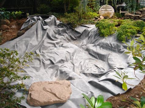 Landscape Fabric In Pond Pond Koi Liner Installation Repair Services Help