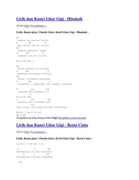 tutorial gitar hanya ingin kau tahu lirik dan kunci gitar gigi