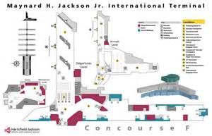 Car Rental Atlanta Airport Terminal Hartsfield Jackson Airport Map