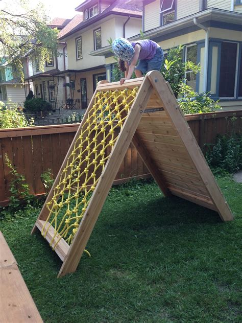 Backyard Net by Mincing Thoughts Climbing Play Structure Building