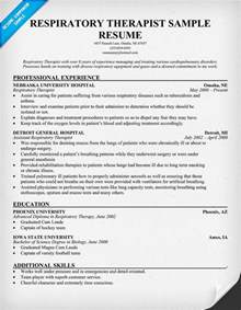 sample resume respiratory therapist sample resume