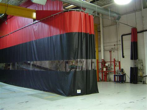 retractable curtain industrial curtains and track