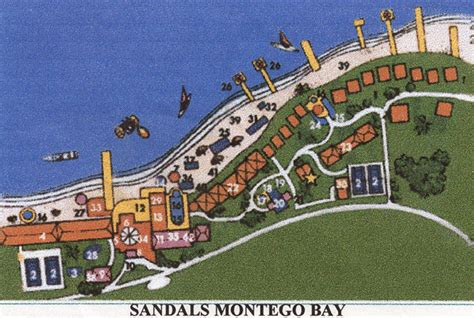 sandals montego bay map sandals montego bay 1997