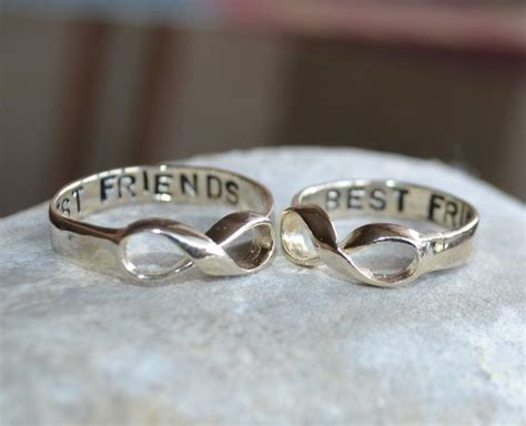 sterling silver infinity ring best friend ring
