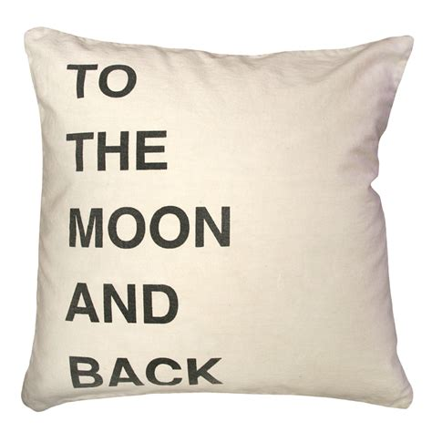Pillow I You To The Moon And Back to the moon and back script throw pillow by sugarboo designs