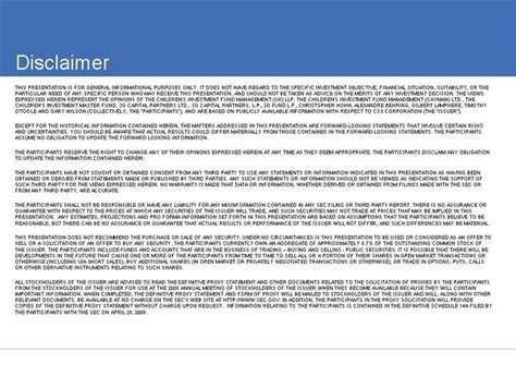 Graphic Financial Advice Disclaimer Template