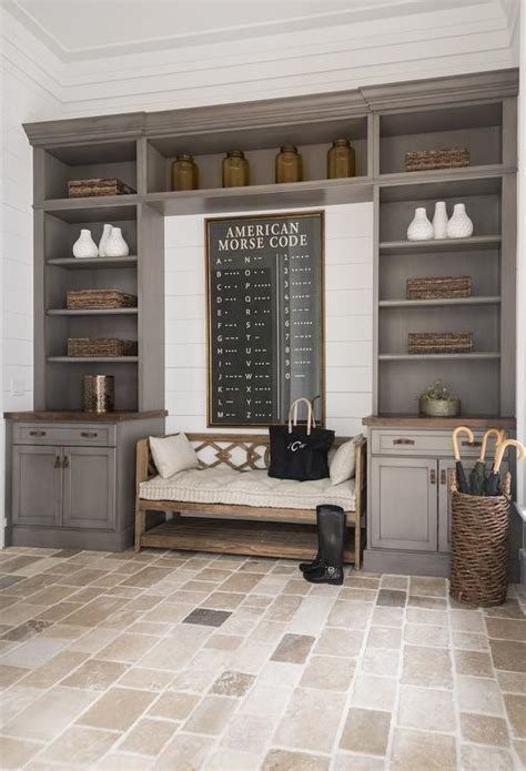 mudroom built in mudroom with gray built in cabinets cottage laundry room