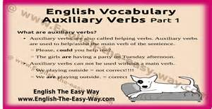 auxiliary verbs usage grammar the easy way