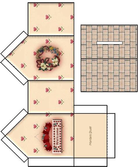 printable miniature house template moldes para fazer casas de papel imprimir recortar e