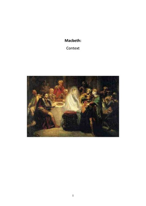 printable version of macbeth macbeth context booklet printable for your class by