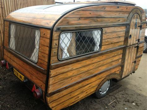 Caravan Shed by Shedworking Airbrushed Micro Caravan Shed