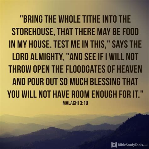 There Is In The House Of The Lord by Bring The Whole Tithe Into The Storehouse That There May Be Food In House Test Me In This