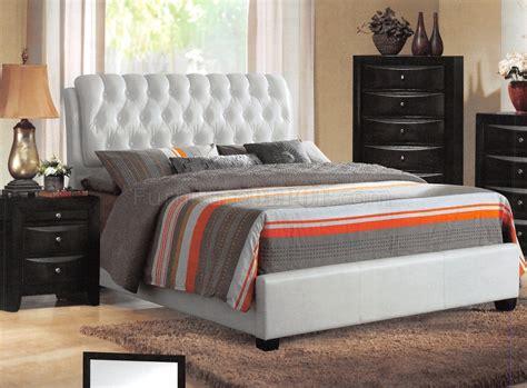 ireland bedroom  acme wwhite upholstered bed