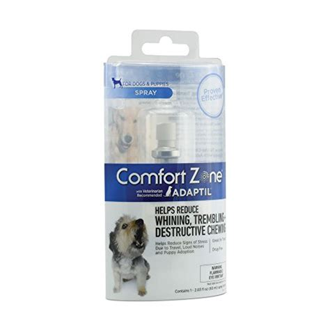 comfort zone dogs comfort zone adaptil spray for dogs 60 ml for dog
