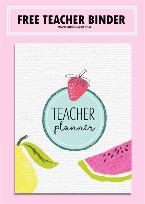 printable binder covers for teachers free teacher binder printables over 25 pretty planning