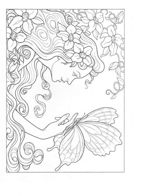 colouring books for adults templates fanciful faces coloring book adult coloring pages