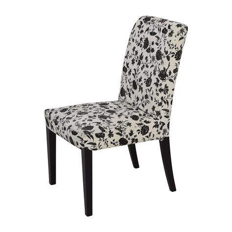 black patterned dining chairs 77 off black white floral dining chair chairs