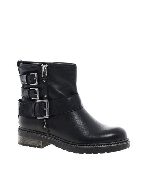 carvela boots for carvela kurt geiger sausage leather buckle biker boots in