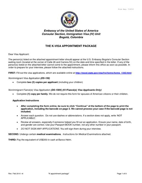 appointment letter sle for us visa 28 images us visa