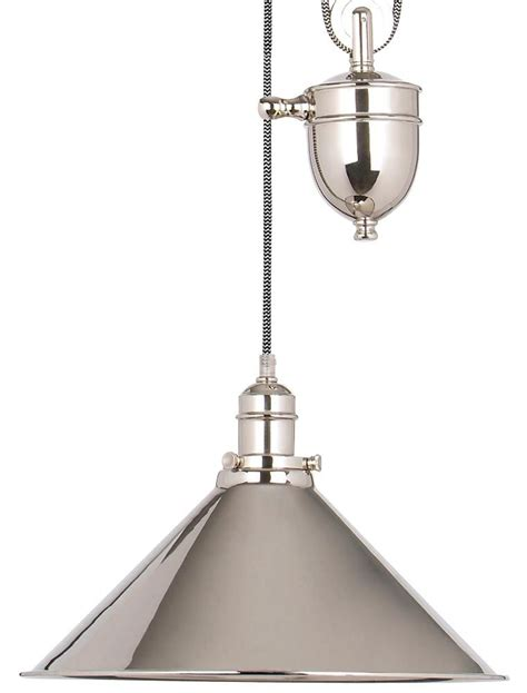 Pulley Ceiling Light Elstead Provence Rise Fall Pulley Ceiling Light Polished Nickel Pv P Pn