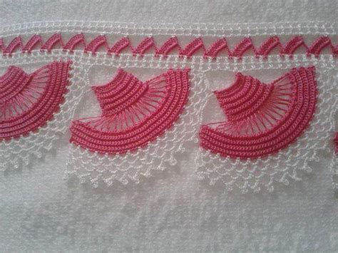 pembe beyaz iekli yazma kenar oya rnekleri havlu kenar 214 rnekleri yeni canım anne