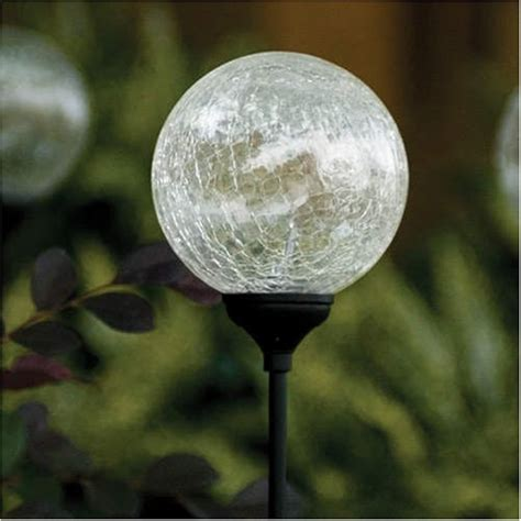 glass solar lights westinghouse crackle glass solar garden light set 4 pk