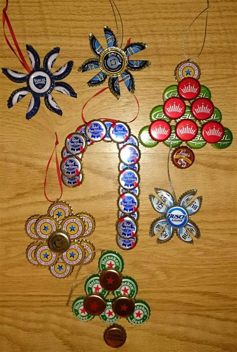 Bottle Ornament cap ornaments crafts and holidays bottle top