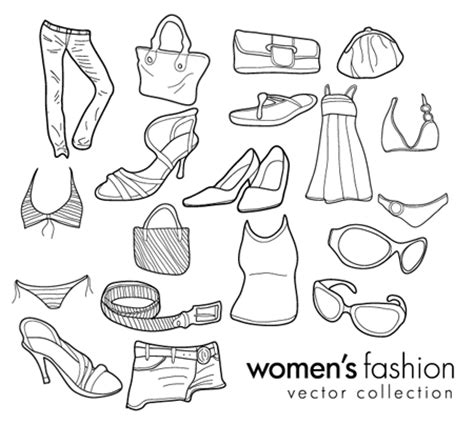 doodle design draw fashion free vector doodles s clothing fashion