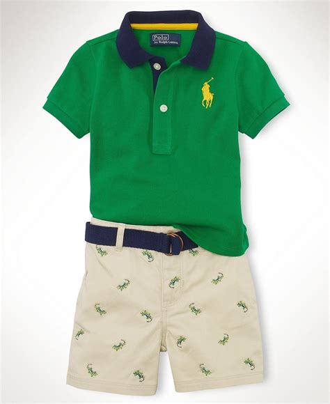 shirt for baby boy ralph baby set baby boys polo shirt and schiffli