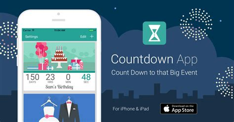 countdown app  timeanddatecom  iphone ipad