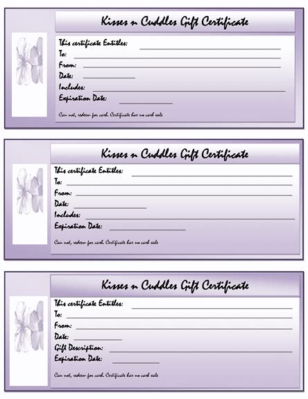 free template for gift certificate free gift certificate templates microsoft word templates