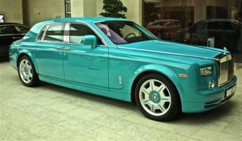turquoise bentley turquoise rolls royce phantom in doha qatar made for the