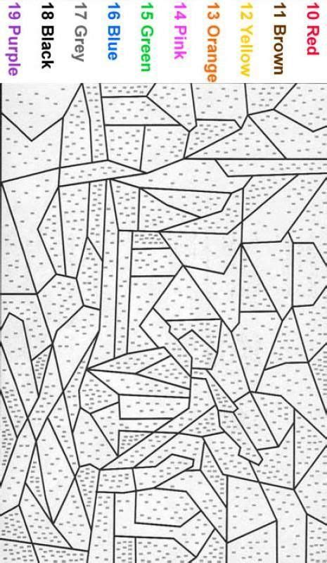 color by number coloring pages for adults beginner color