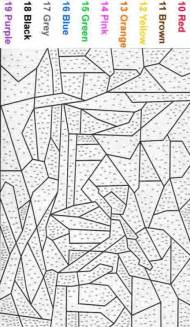 color world cool math color by number coloring pages for adults beginner color