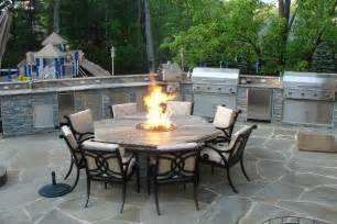 patio furniture with pit table outdoor kitchen with pit table traditional patio