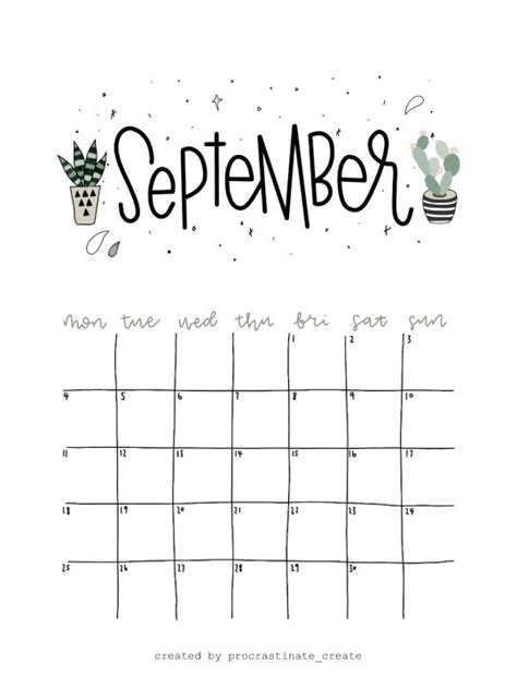 calendar printable  tumblr