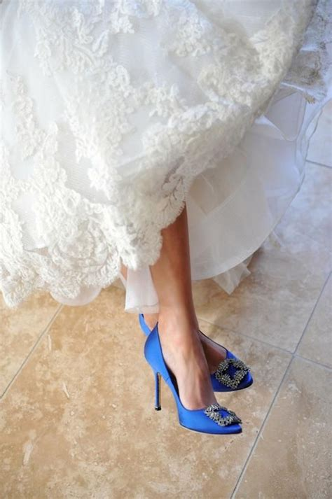 Wedding Shoes In Blue by Blue Wedding Shoes That Dazzle Modwedding