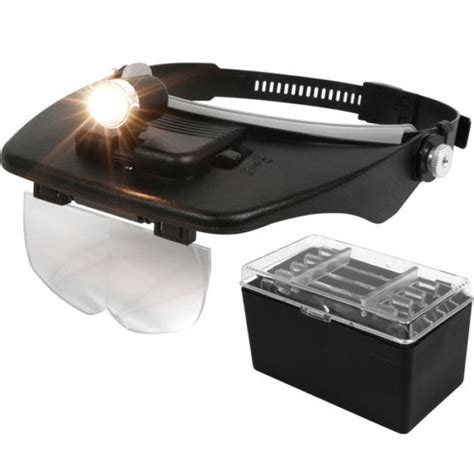 headband magnifier with light voltage converters 10x led headband magnifier lighted