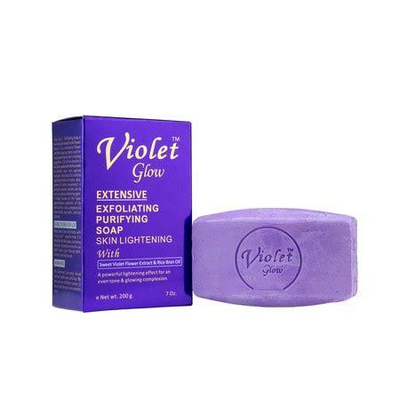 Gluta Violet violet glow savon purifiant exfoliant eclaircissant