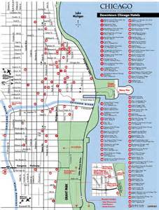 Map Of Downtown Chicago Hotels by Map Of Downtown Chicago Hotels Chicago Maps Fun Things