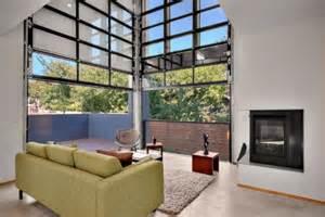 Garage Door Style Windows Sectional Glass Garage Doors Used In Modern Designs