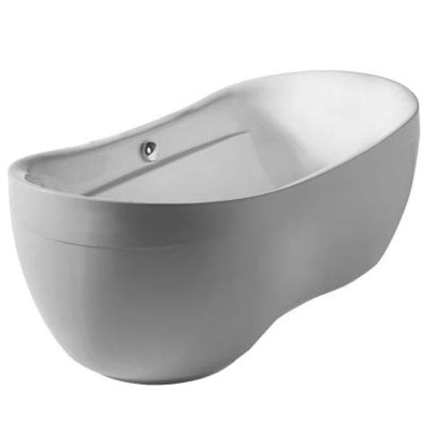 home depot freestanding bathtubs whitehaus collection bathahus 5 9 ft lucite acrylic